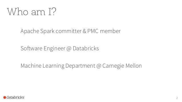 Foundations for Scaling ML in Apache Spark by Joseph Bradley at BigMine16 Slide 2