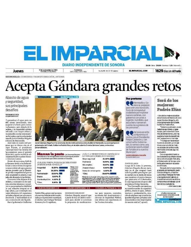 """16-09-2009 Padrés Elías Será de los """"Mejores""""."""
