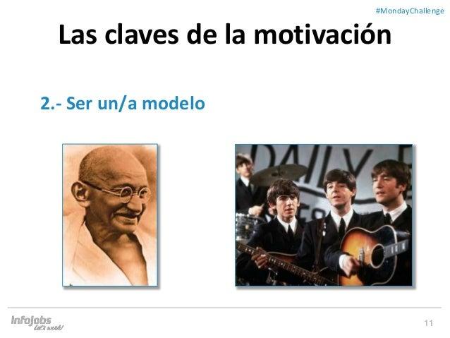 11 ##MondayChallenge 2.- Ser un/a modelo Las claves de la motivación