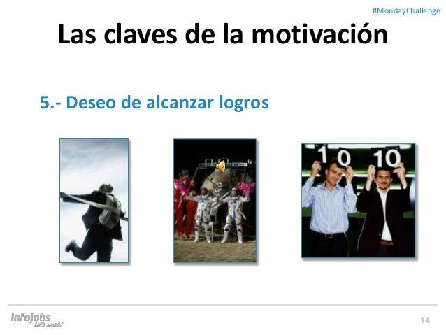 14 ##MondayChallenge 5.- Deseo de alcanzar logros Las claves de la motivación