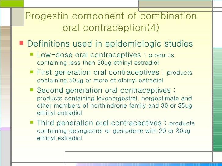 Oral Contraceptives Contain