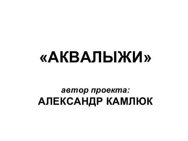 «АКВАЛЫЖИ»автор проекта:АЛЕКСАНДР КАМЛЮК