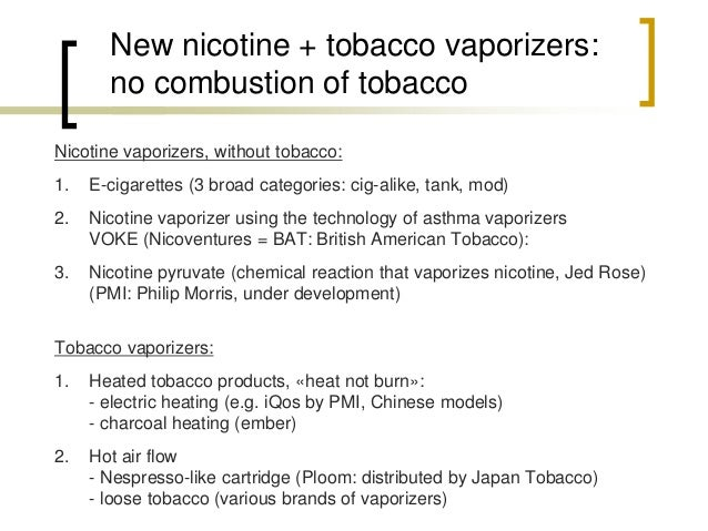 iQos = Philip Morris  heated tobacco product