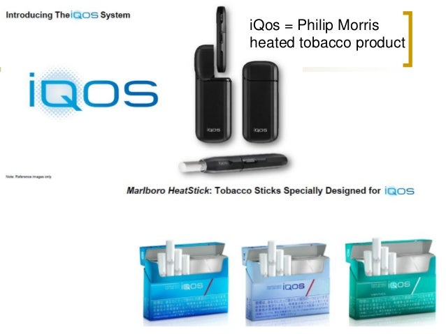 Pharmacokinetics: Philip Morris iQos  Same speed as tobacco cigarette  = iQos
