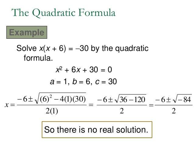 166 Quadratic Formula Discriminant