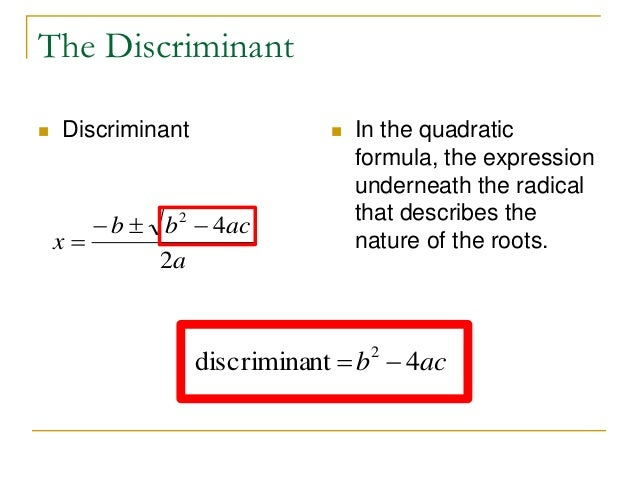 05.05: Solving Quadratic Equations Using the Quadratic Formula ...