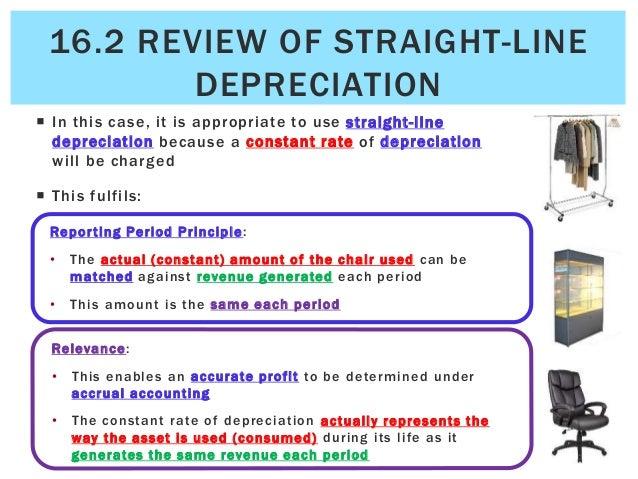 straight line depreciation