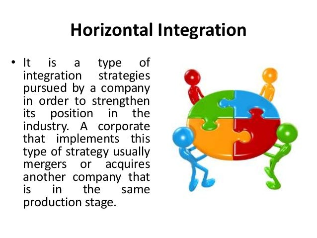 toyota horizontal integration Vertical integration is the degree to which a firm owns its upstream suppliers and its downstream buyers with the goal of increasing the company's power in the marketplace there are three varieties of vertical integration: backward integration, where a company controls products used in the.