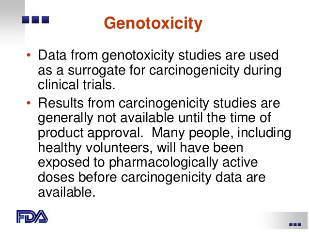 Genotoxicity and carcinogenicity study
