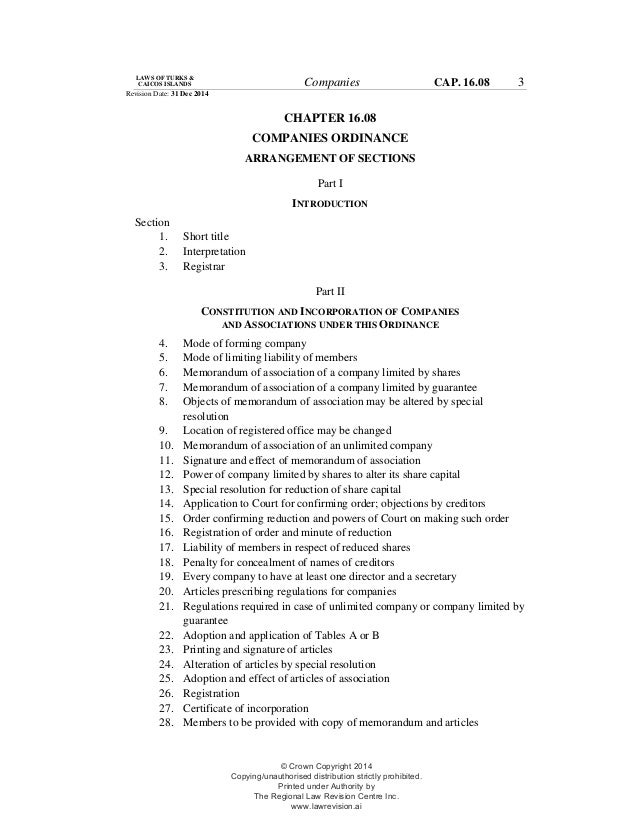 company ordinance The companies (amendment) ordinance 2018 was gazetted on 2 february 2018 the commencement date of the new law is 1 march 2018.
