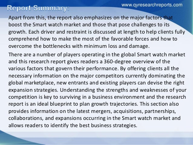 watch industry profile Market research report on the watch industry, with market share, industry trends,  and market analysis for watches.