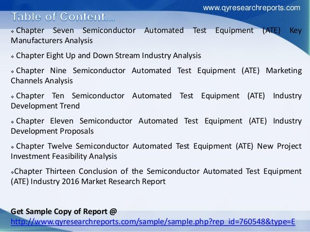 Semiconductor Industry Test : Global and china semiconductor automated test equipment