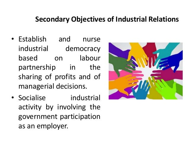 industrial relations Industrial relations section discusses in detail the concept, meaning and various aspects of industrial relation which include employer-employee relation.
