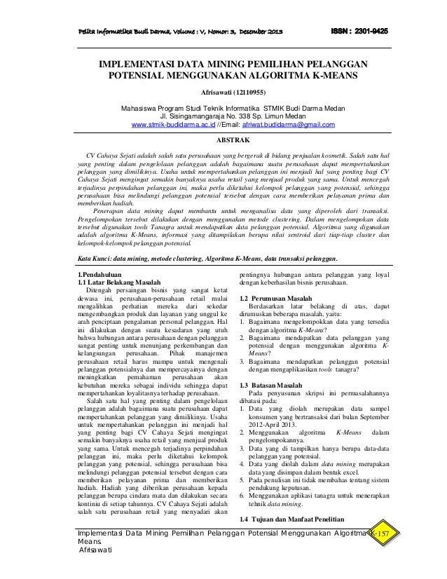 16 Afrisawati Implementasi Data Mining Pemilihan Pelanggan Potensia