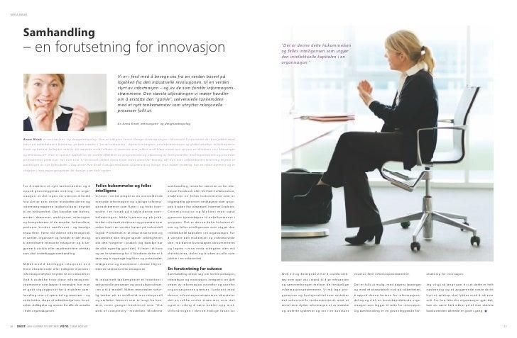 ANNA KIRAH              Samhandling          – en forutsetning for innovasjon                                             ...