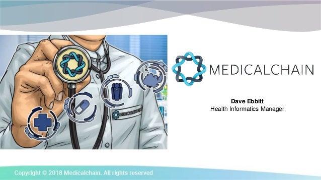 Dave Ebbitt Health Informatics Manager