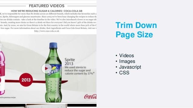 • Videos • Images • Javascript • CSS Trim Down Page Size