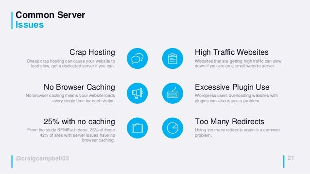 @craigcampbell03 Common Server Issues 21 Crap Hosting Cheap crap hosting can cause your website to load slow, get a dedica...