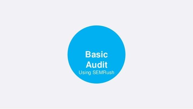 Using SEMRush Basic Audit