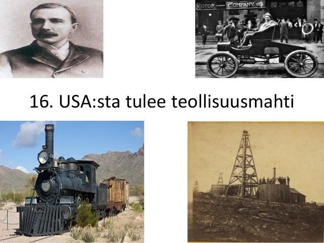 16. USA:sta tulee teollisuusmahti
