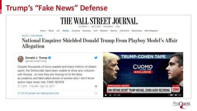 "Trump's ""Fake News"" Defense"