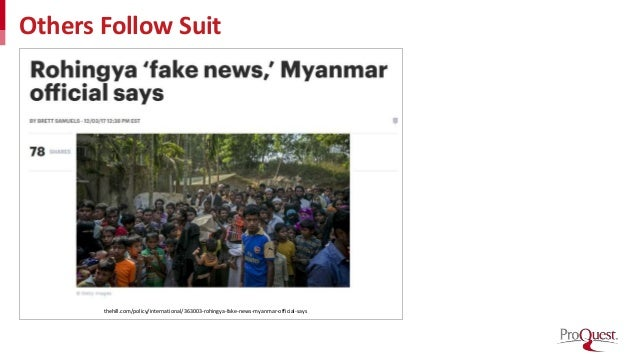 Others Follow Suit thehill.com/policy/international/363003-rohingya-fake-news-myanmar-official-says