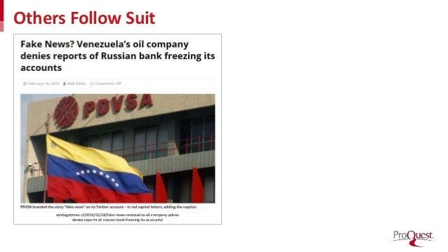 Others Follow Suit santiagotimes.cl/2019/02/18/fake-news-venezuelas-oil-company-pdvsa- denies-reports-of-russian-bank-free...