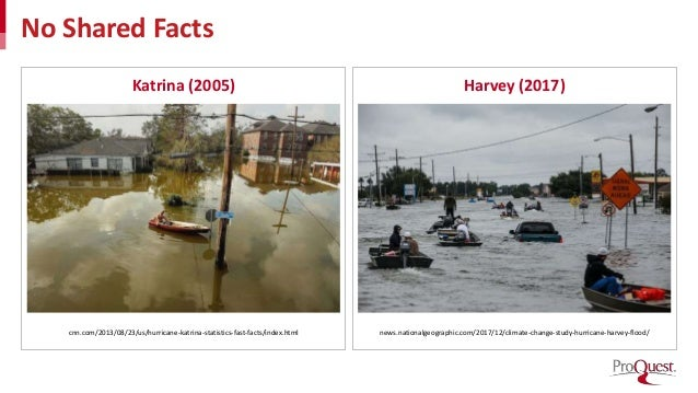 No Shared Facts Katrina (2005) Harvey (2017) cnn.com/2013/08/23/us/hurricane-katrina-statistics-fast-facts/index.html news...