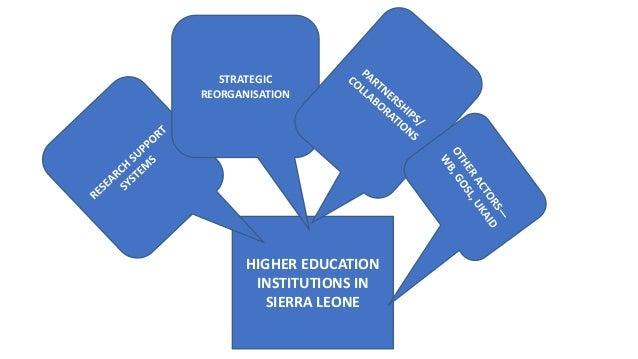 HIGHER EDUCATION INSTITUTIONS IN SIERRA LEONE STRATEGIC REORGANISATION