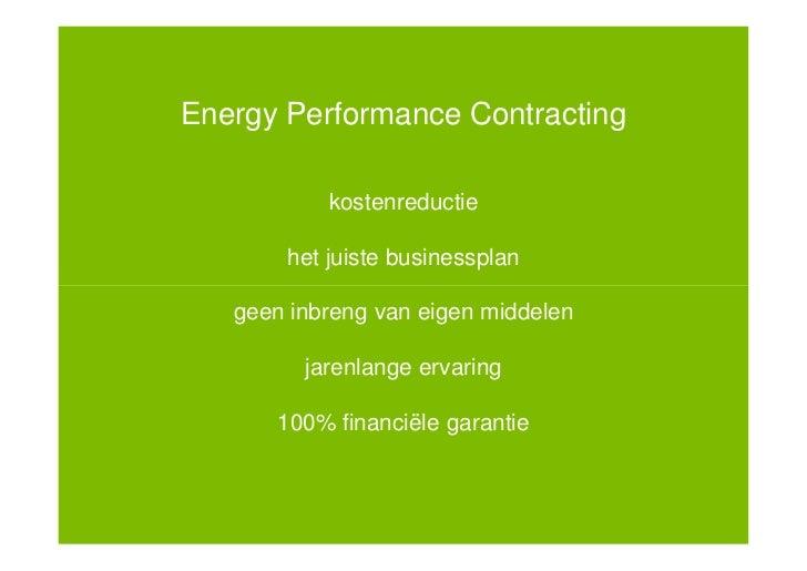 ESCO, de oplossing voor kantoorpanden - Johnson Controls Slide 3