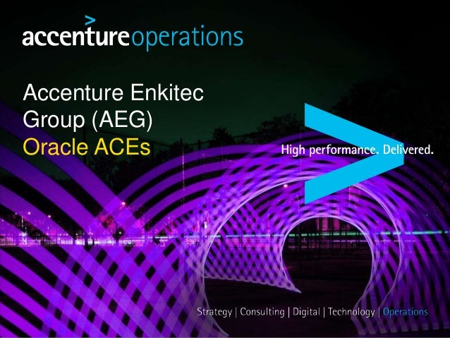 Accenture Enkitec Group (AEG) Oracle ACEs