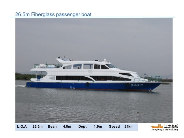 16m to 28m passenger boat for sale