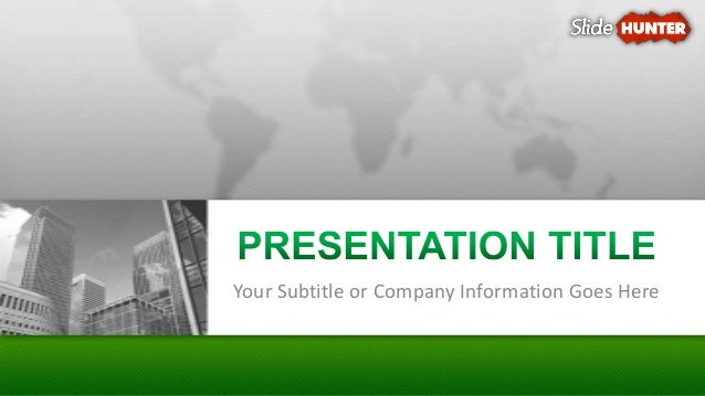 Corporate Business Green Powerpoint Template