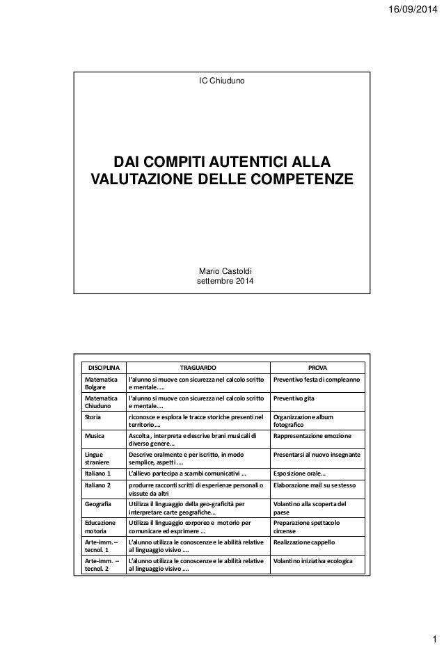 VALUTARE LE COMPETENZE CASTOLDI PDF