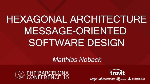 HEXAGONAL ARCHITECTURE Message oriented software design By Matthias Noback