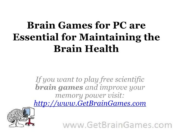 Brain Games for PC are Essential for Maintaining the Brain Health<br />If you want to play free scientific brain games and...