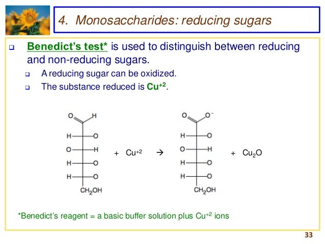 reducing sugar food test Biological molecules of life jessica leonard biology lab april 5 table 1: benedict's test for the presence of reducing sugar tests: observations: conclusions: water + benedict's solution: no change: not a simple sugar: glucose + benedict's solution.