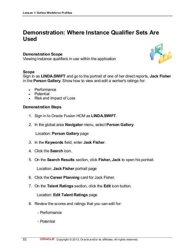 16 define workforce profiles