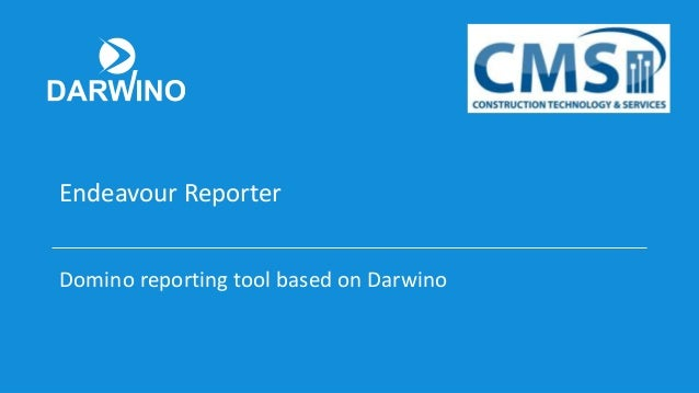 Endeavour Reporter Domino reporting tool based on Darwino