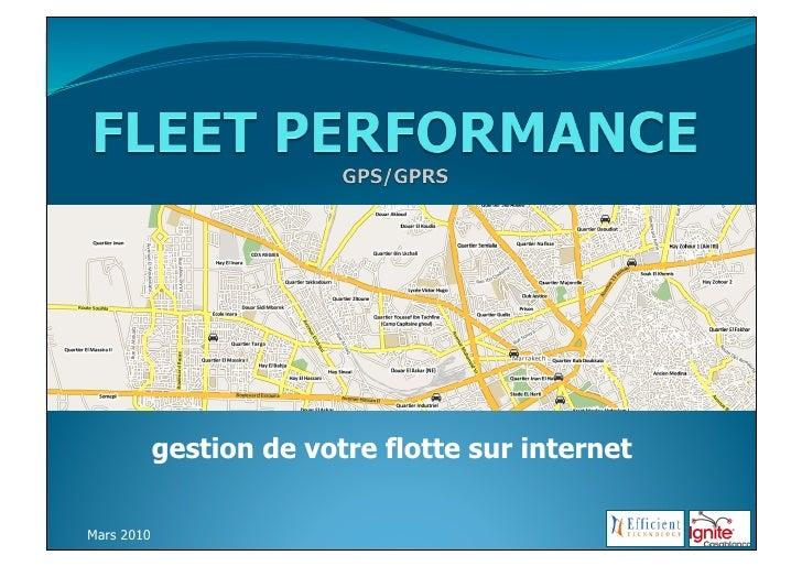 gestion de votre flotte sur internet  Mars 2010