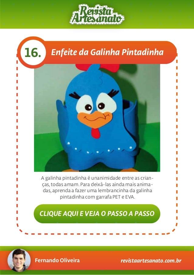 Fernando Oliveira revistaartesanato.com.br Enfeite da Galinha Pintadinha16. A galinha pintadinha é unanimidade entre as cr...