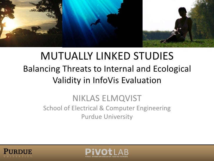 Mutually Linked StudiesBalancing Threats to Internal and Ecological Validity in InfoVis Evaluation<br />Niklas ElmqvistSch...
