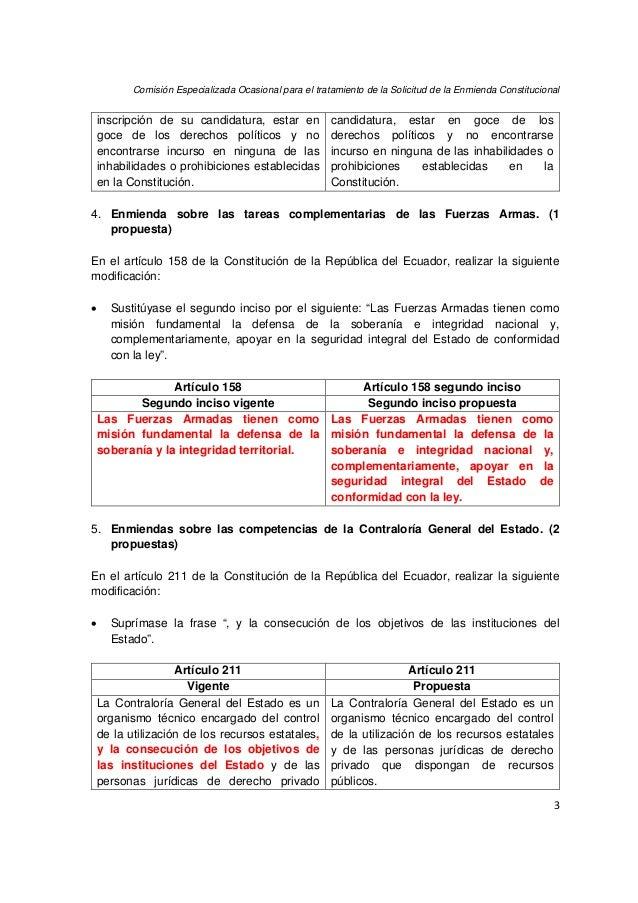 16 propuestas de Enmienda Constitucional Slide 3