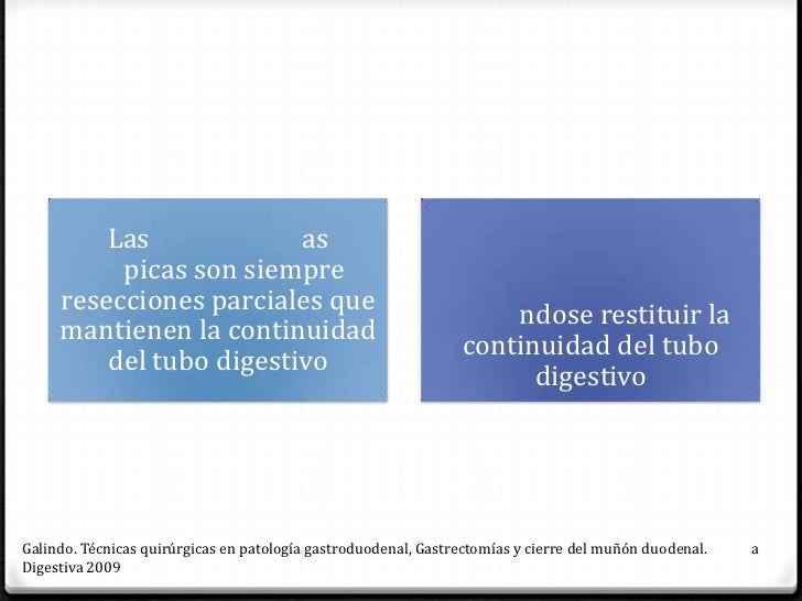 Pean-Bilroth I                                                Bilroth IILa continuidad se                                 ...