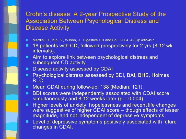 a study of crohns disease This is a drug usually used to treat psoriasis, but research suggests that it may be  helpful in treating crohn's disease when other medications.