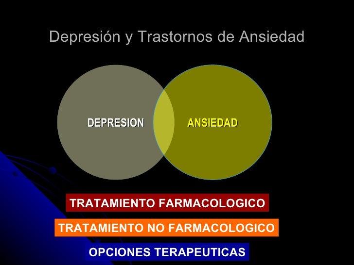 Depresión y Trastornos de Ansiedad OPCIONES TERAPEUTICAS TRATAMIENTO NO FARMACOLOGICO TRATAMIENTO FARMACOLOGICO DEPRESION ...