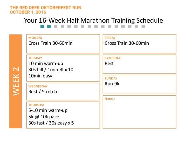 16 Week Half Marathon Training Plan