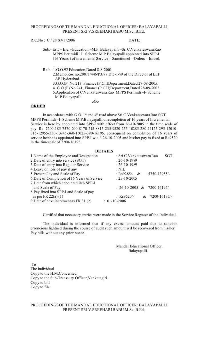 PROCEEDINGS OF THE MANDAL EDUCTIONAL OFFICER: BALAYAPALLI              PRESENT SRI V.SREEHARI BABU M.Sc.,B.Ed.,  R.C.No : ...