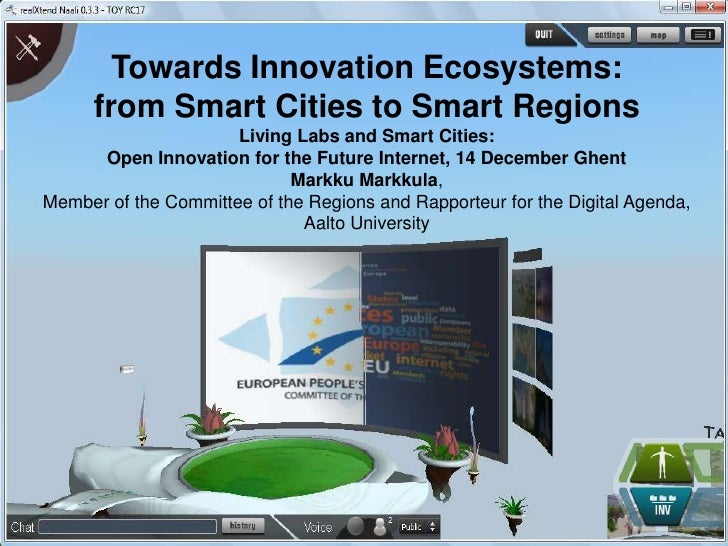 Markku Markkula - Towards Innovation Ecosystems: from Smart Cities to Smart Regions