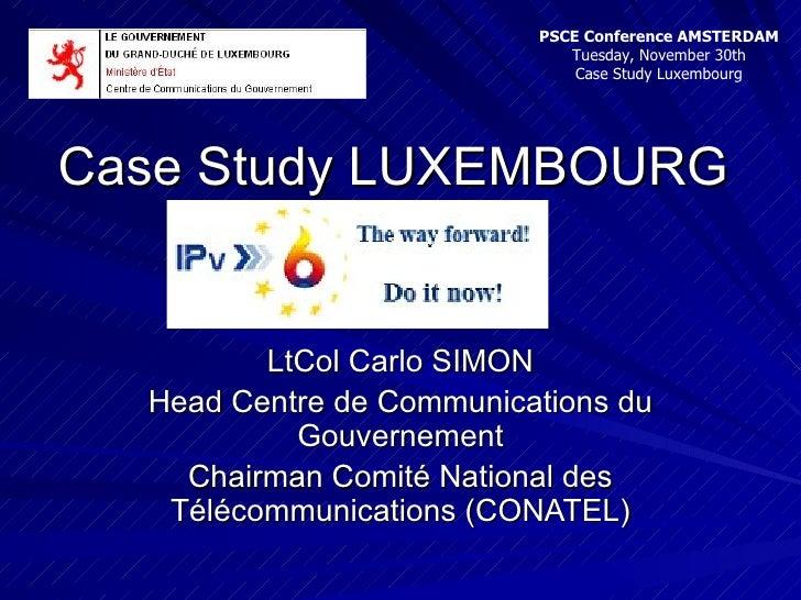 Carlo SIMON - IPv6 Case Study LUXEMBOURG